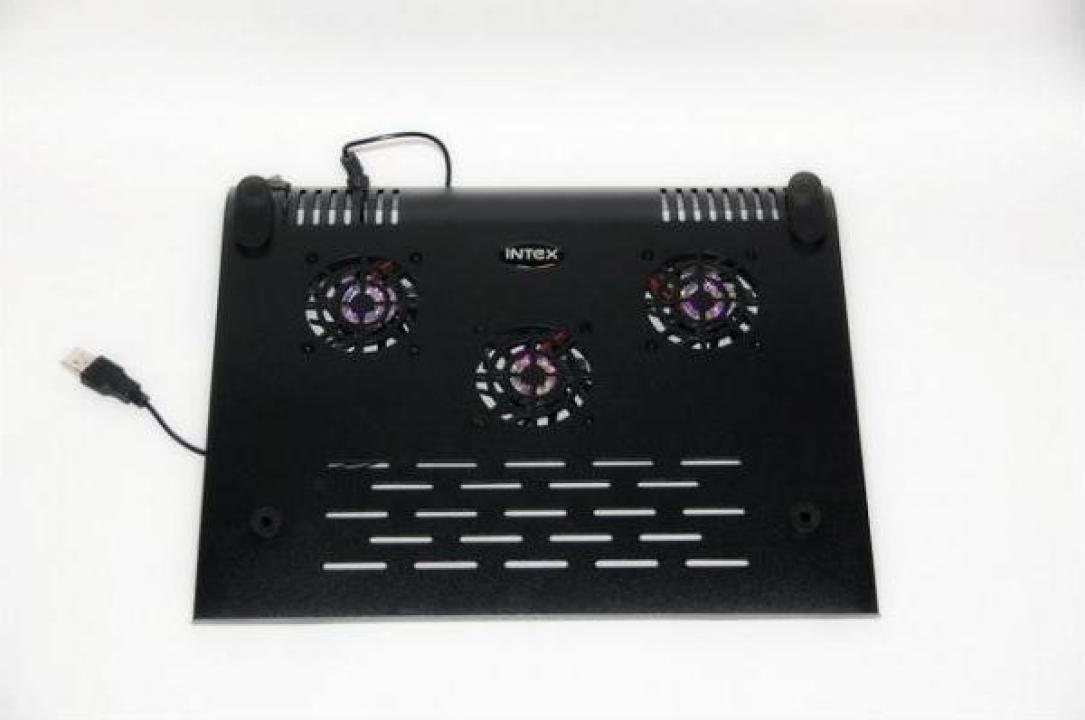 Cooler metalic laptop pe USB cu 3 ventilatoare