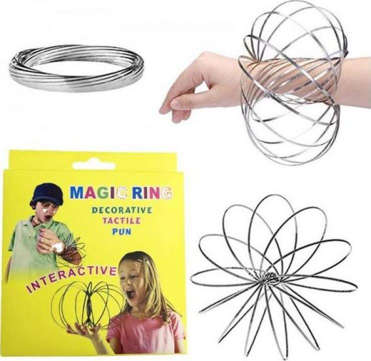 Jucarie kinetica interactiva bratara metalica Magic Ring
